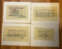 MCM Architectural Drawings Transparent Paper on Board Lot of 6 - RD Parsons 1958