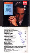 Maurizio POLLINI firmato Chopin Piano Concerto 1 ballata notturni Polonaise CD