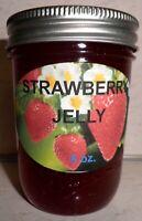 Fresh STRAWBERRY JELLY 1/2 Pint (8 oz.) Organic, No Chemicals, FREE SHIPPING