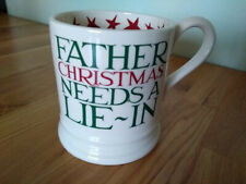 Emma Bridgewater 1/2 pint mug CHRISTMAS TOAST Father Christmas Lie In (seconds)