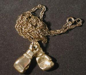 BOXING GLOVES vintage necklace