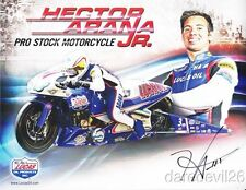 2013 Hector Arana, Jr. signed Lucas Oil Buell Pro Stock Motorcycle NHRA postcard