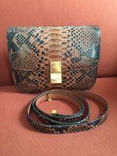 Authentic Celine Brown Python Box Bag