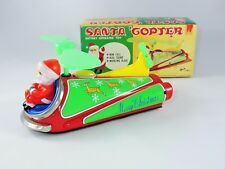 ILLCO M-T Santa Copter Battery Operated toy tin Japan with Box WORKS helicopter