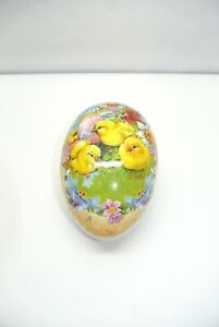 """Hestler Collectible Paper Mache Egg 6"""" Made in Germany"""