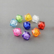 20 Perles Acrilique Cube 10mm facette perle 10 mm creation bijoux, collier