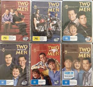 TWO AND A HALF MEN - SEASONS 1 2 3 4 5 & 7 = 22 DISCS BRAND NEW SEALED - DVD R4