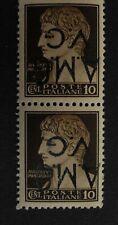 Italia -Serie Imperiale 1945- 10 cent sovrastampato A.M.G. V.G capovolto