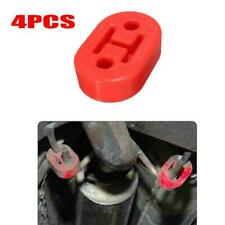 4X Red 12mm 2 Holes Car Rubber Exhaust Tail Pipe Mount Brackets Hanger Insulator