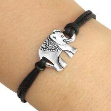 Silver Tone Elephant Charm Bracelet Lucky Friendship Bracelet