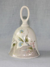 Bell White China with Pastel Blue Calla Lilies Lily 5009  Vtg Berrie Japan