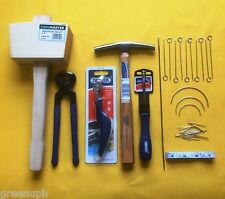 UPHOLSTERY TOOLS, TOOL KIT 15, NEEDLES, MALLET,TACK HAMMER.