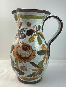 Mid Century Italian Floral Jug Vase