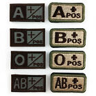 Useful Military Blood Type Tactical Army Embroidered Sticker Hook Patch Armband
