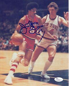 Julius Erving DR J #0  8x10 Signed Photo W/JSA  Philadelphia 76ers