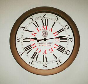 Marconi Style Telegraph Operators Watch, Reproduction Wall Clock.
