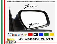 4 Adesivi per specchietto Fiat Punto Logo Omino Stilizzato Stickers Prespaziato