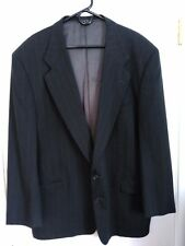 Mens Size 46R Uomo Ungaro Paris Off-Black Pinstripe Sport Coat 100% Worsted Wool