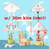 Kid Blank Kites DIY Painting Kite Outdoor Animal Kite Toys + kite X0N5 30m I0J8