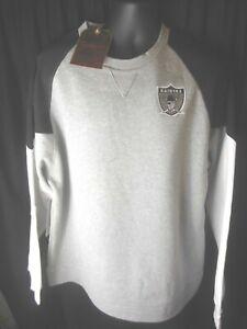 Raiders NFL Mitchell & Ness Men's Trading Block Crew Neck Sweatshirt MSRP $80.00