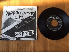 SEX PISTOLS * Anarchy In The UK * 1977 French 45 * PUNK KBD *