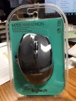 NEW SEAL--Logitech M705 Marathon USB Wireless Optical Mouse w/Unifying Receiver