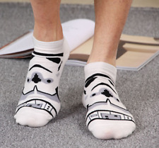 Fashion Mens Cotton Socks Star Wars Low Cut Darth Vader Face Character Socks
