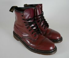 Vintage Dr Doc Martens 8-Eye Boots CHERRY RED Made in England MENS 8
