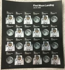 2019 1st Moon Landing~July 20, 1969~Forever Stamp Sheet~24 Stamps~MNH~Free Ship