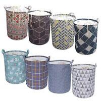 Large Laundry Basket Hamper Folding Storage Barrel Dirty Clothes Toys Organizer