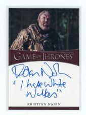 Game of Thrones Season 8 Kristian Nairn I Hate White Walkers Auto Autograph