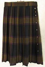 Karierte knielange Damenröcke im Faltenrock -/Kilt-Stil für die Freizeit
