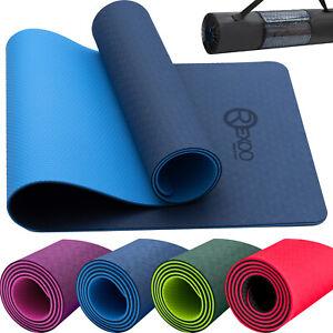 Rexoo Yogamatte TPE Fitnessmatte Gymnastikmatte Pilates Sportmatte Bodenmatte