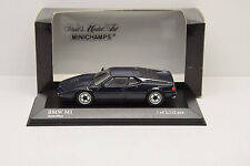 BMW M1 1978-1981 BLUE MINICHAMPS 1/43 NEUVE EN BOITE