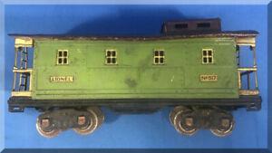 LIONEL #517 STANDARD GAUGE STATE SET PREWAR CABOOSE CAR GREEN BROWN ROOF PARTS