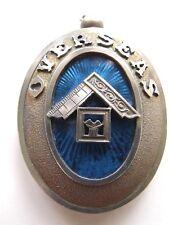 Sterling silver and enamel OVERSEAS Masonic grand rank collar jewel