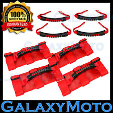 Jeep Wrangler JK TJ YJ Deluxe Extreme RED 8pcs Roll Bar+Rear Side Grab Handle