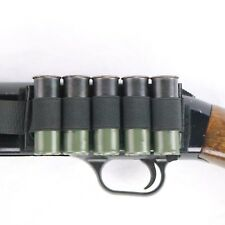 Black Elastic Shotgun Shot Card Velcro® and Adhesive Saddle for 5 Shells