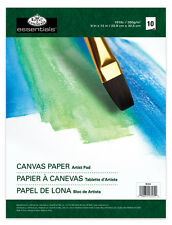 CANVAS PAPER Art Pad Tablet 9in x 12in 10 Sheets Artist Painting