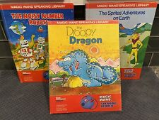 3 LOT Texas Instruments Magic Wand Speaking Reader Book 1982: Robot Dragon Earth