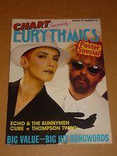 Eurythmics 1983 Chart Songwords No.47 Poster Magazine