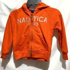 Nautica Toddler Boy'S Full Zip Size 3T Sweatshirt Hoodie Jacket Orange