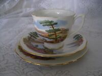 Queen Anne - Trio Tea Set - Cup, Saucer and Plate