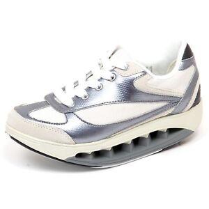 F4010 sneaker donna white/silver SCHOLL STARLIT tissue/leather shoe woman