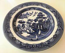 "Johnson Blue Willow 11"" Dinner Plates (Pair)"
