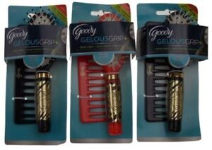 NEW NWT Goody Gelous Grip Animal Print Paddle Brush & Comb Set Cheetah Zebra