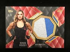 RONDA ROUSEY 2016 TOPPS UFC TOP OF THE CLASS RELICS TCR-RR USED MAT RED #d 3/8