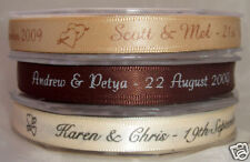7mm x 10m Personalised Wedding Favour Ribbon