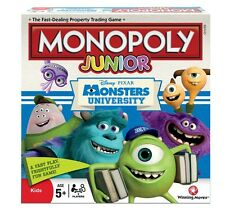 DISNEY MONSTERS UNIVERSITY JUNIOR MONOPOLY 5+ BRAND NEW GREAT GIFT