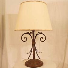 LAMPADA DA TAVOLO LUME CLASSICO ART.42 FERRO BATTUTO MADE IN ITALY TABLE LAMP